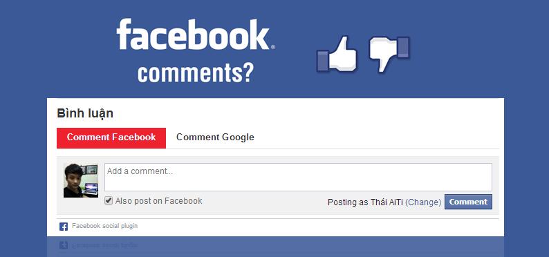 Chèn Comment Facebook vào Template Blogspot thành công 100%