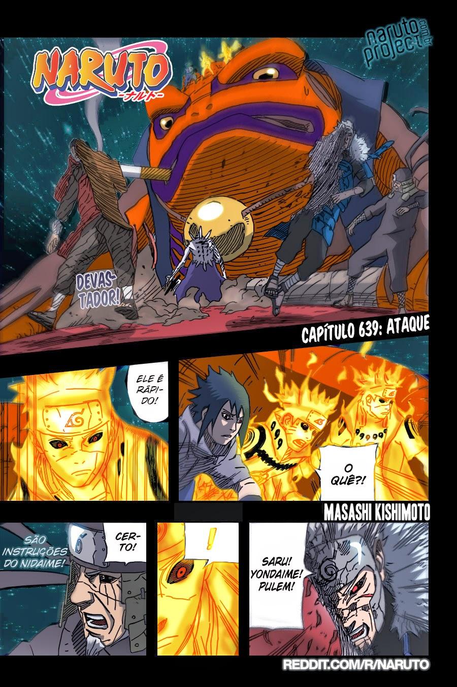 Naruto 639 Mangá Colorido em português leitura online