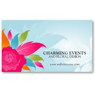 Business card showcase by socialite designs elegant event planner the business card can be used by a florist or anyone looking for a floral business card design to view the full business card in my store reheart Image collections