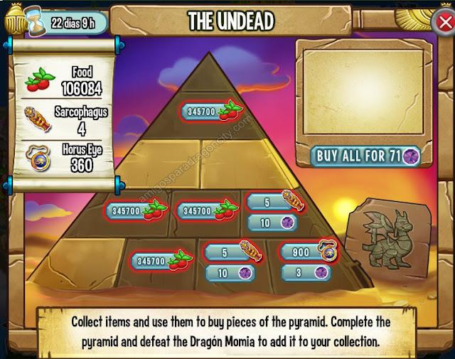 imagen de los objetos magicos de the undead los muertos vivientes de dragon city
