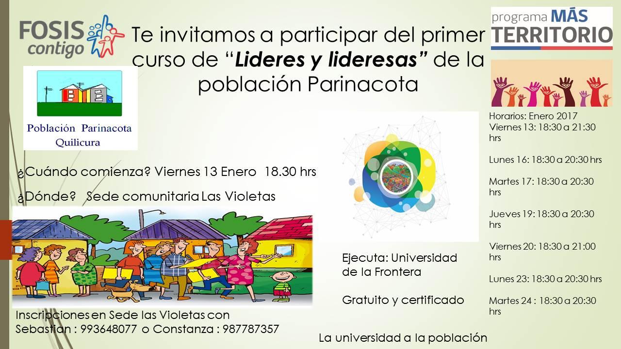 UNIVERSIDAD DE LA FRONTERA CAPACITARÁ A LÍDERES Y LIDERESAS EN POBLACIÓN PARINACOTA QUILICURA