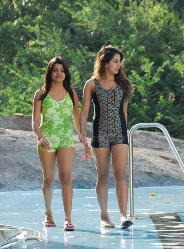 South Hot Sanjana and Thashu Spicy Bikini Shoot in Dussasana unseen pics
