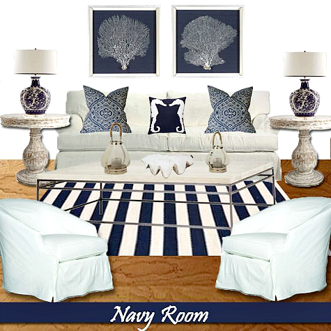 Coastal Living Room Design Ideas by Our Boat House -Shop the Look ...
