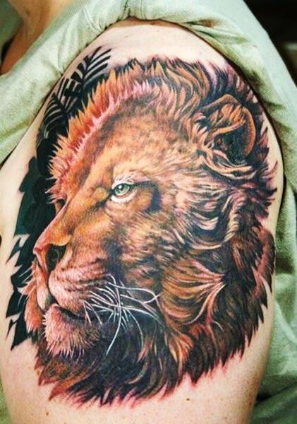 Lion Tattoos on Sleeve