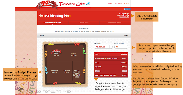 Birthday Budget Planner of Red Ribbon - How it works?