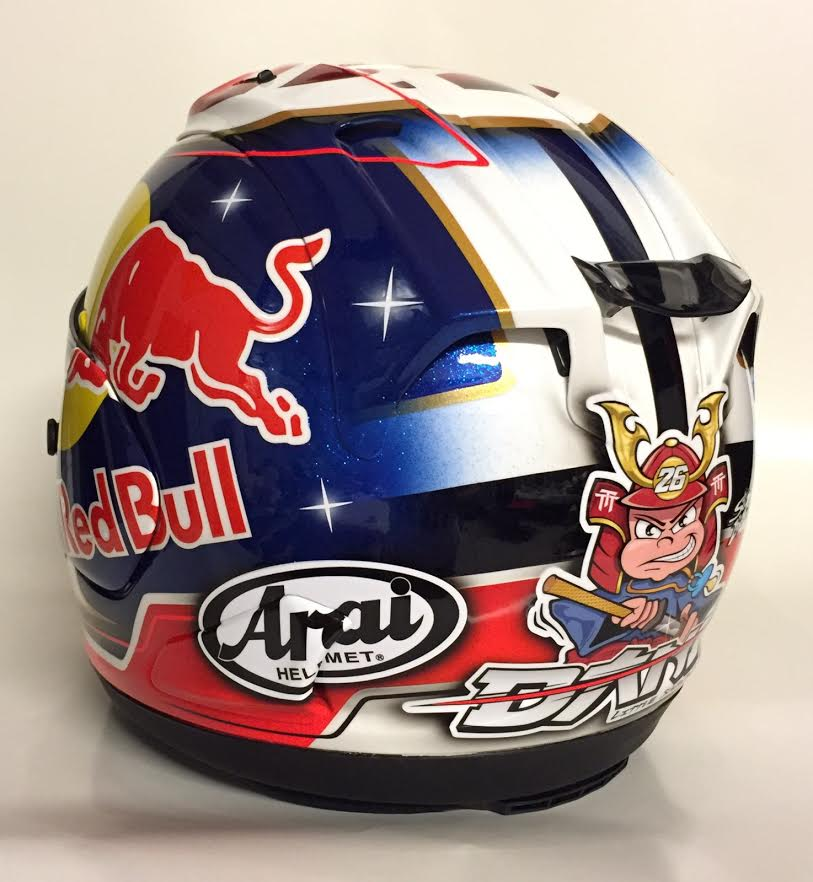 racing helmets garage arai rx 7v d pedrosa motegi 2015 by starline. Black Bedroom Furniture Sets. Home Design Ideas