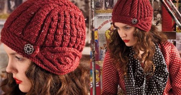 Шапочка-шлем из Vogue Knitting 2012-2013