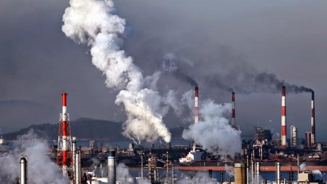 Factory smokestacks (Credit: Thinkstock) Click to enlarge.