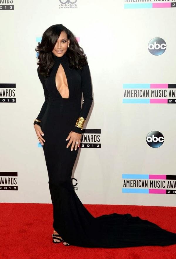 Naya Rivera Braless Cleavage For The 2013 AMAs