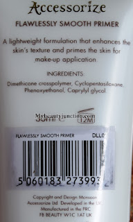 Accessorize Flawlessly Smooth Primer review, photos, swatch