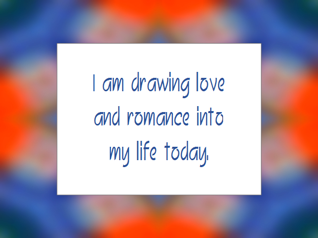 LOVE RELATIONSHIPS affirmation