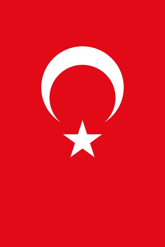 bandera de Turquia para imprimir