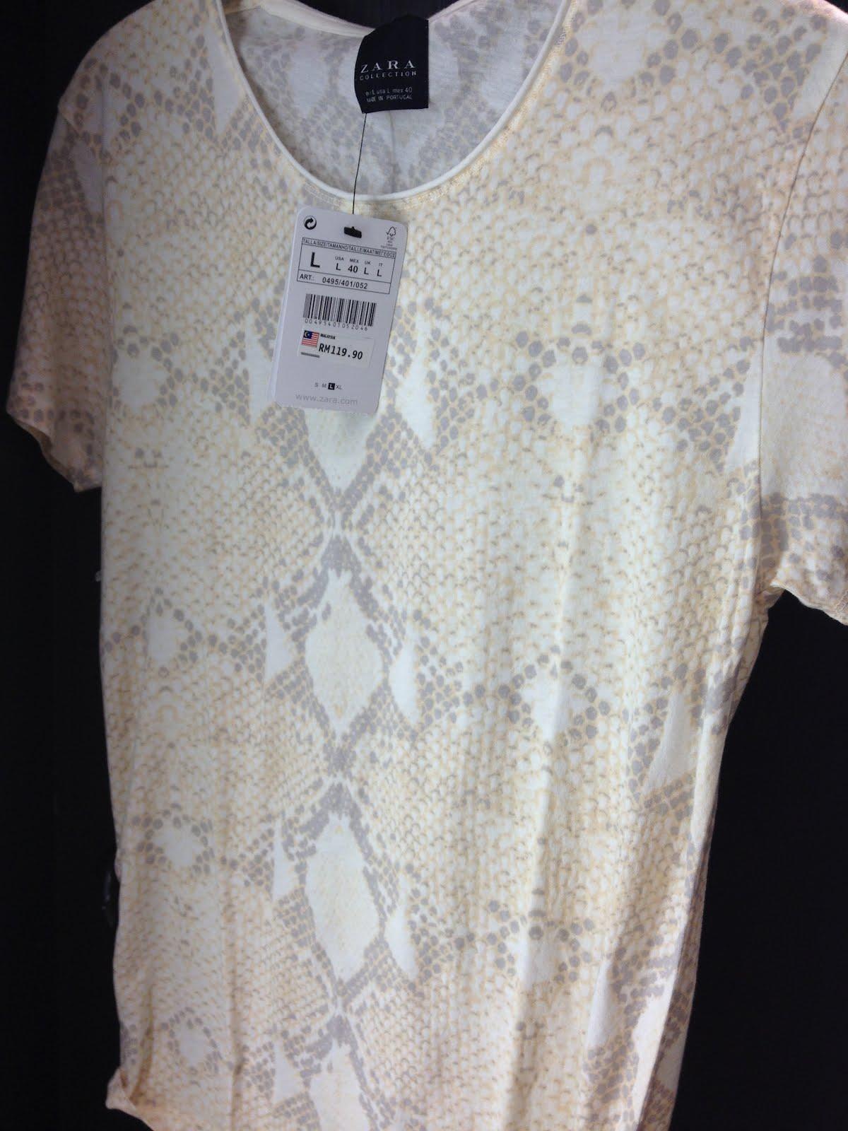 Snake Print Shirt Zara Zara Snake Print Beige