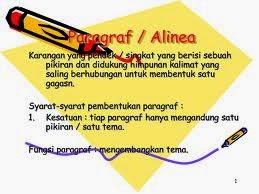 Pengertian Paragraf - Definisi Alinea