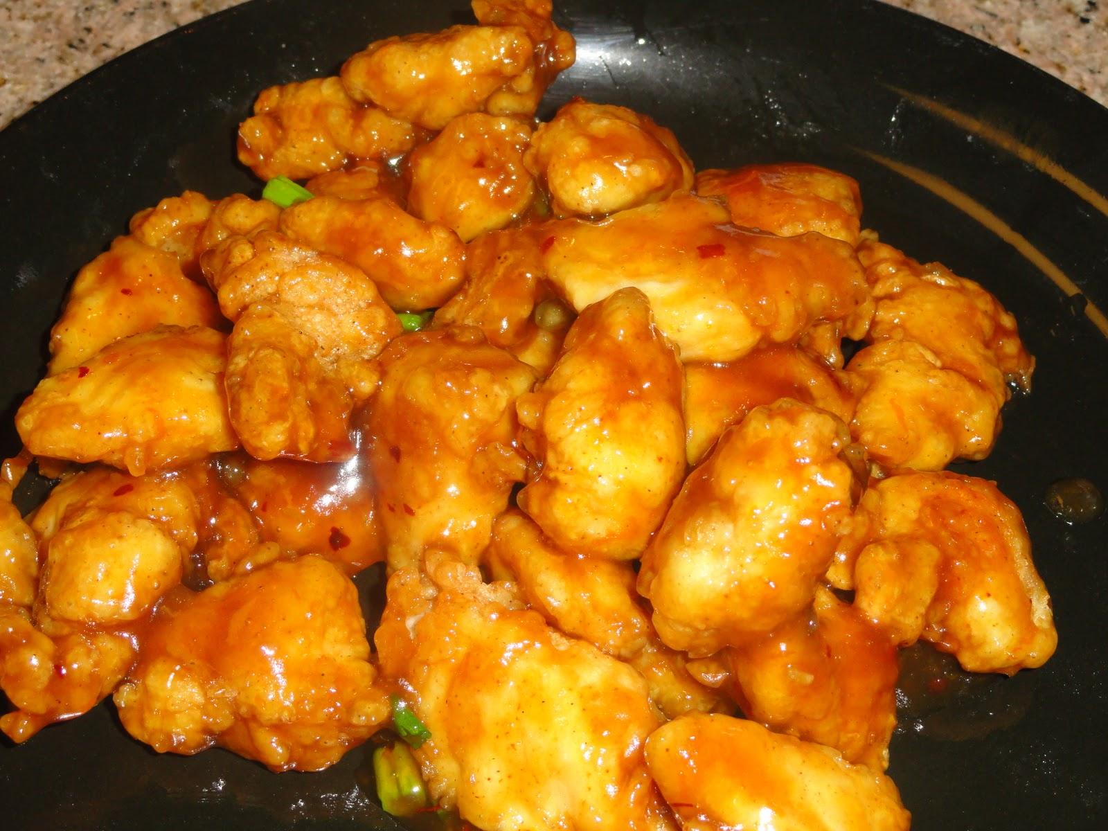 orange chicken recipe chicken fry 2lbs chicken breast cut into bite ...