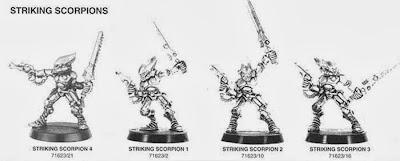 Hoja de catálogo con los Escorpiones asesinos