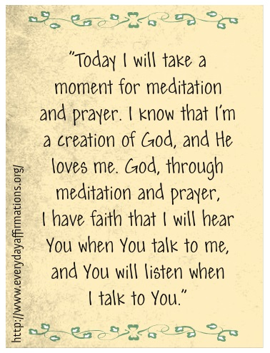 Daily Affirmations - 12 July 2013