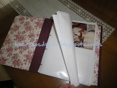 Transformación de álbum de fotos con la técnica del cartonaje