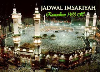 Jadwal Imsakiyah 1433 H