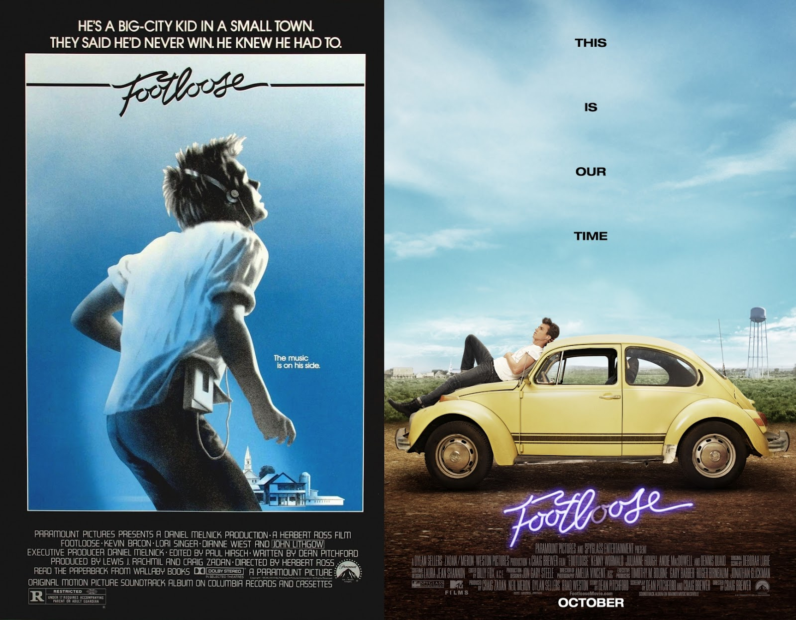 Footloose Movie Poster  1984  footloose  2011 Footloose Movie Poster 1984