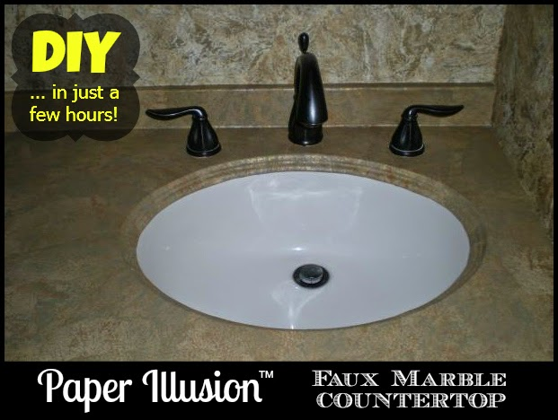 Create A Faux Marble Countertop With Paper Illusion Wallpaper