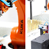 KR AGILUS Robot from KUKA bonds threaded bolts at WKT Kunststofftechnik GmbH