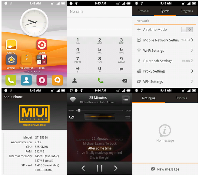 MIUI 3 CM7 Custom ROM on Galaxy Y S5360