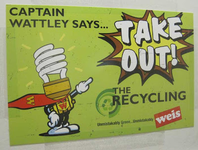 Captain Wattely says TAKE OUT THE RECYCLING