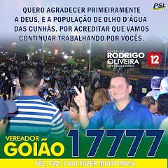 VEREADOR GOIÃO AGRADECE AOS ELEITORES PELA VITÓRIA