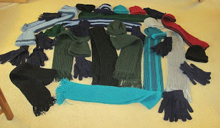 hats, scarves, mittens