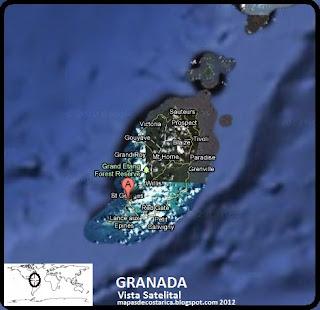 Mapa de GRANADA, Vista Satelital