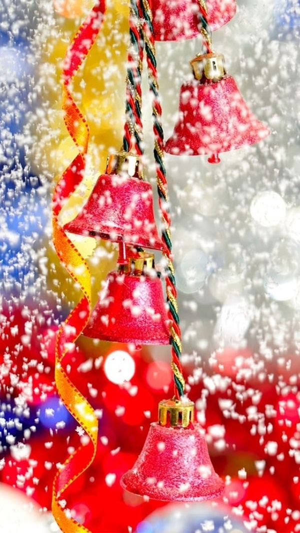 Snowy Christmas Bells iPhone 5/5s Wallpaper