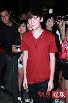 Greyson Chance arrives in Hong Kong July 2012