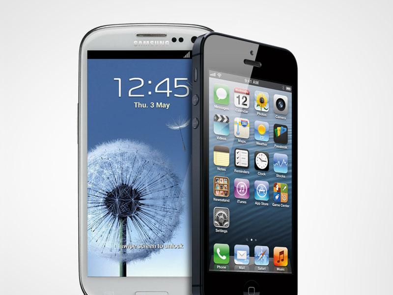 Galaxy S4 face à la Iphone 5, magneto Serge