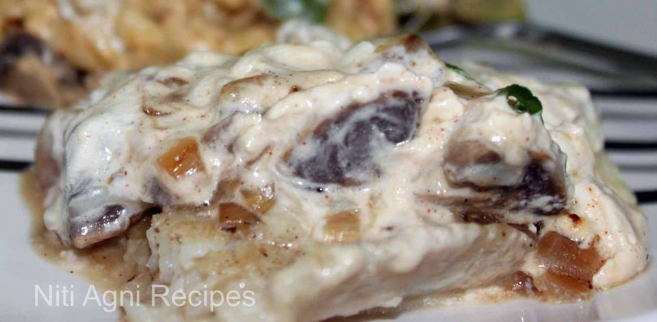 Niti agni recipes baked white fish fillet in sour cream for Baked whiting fish