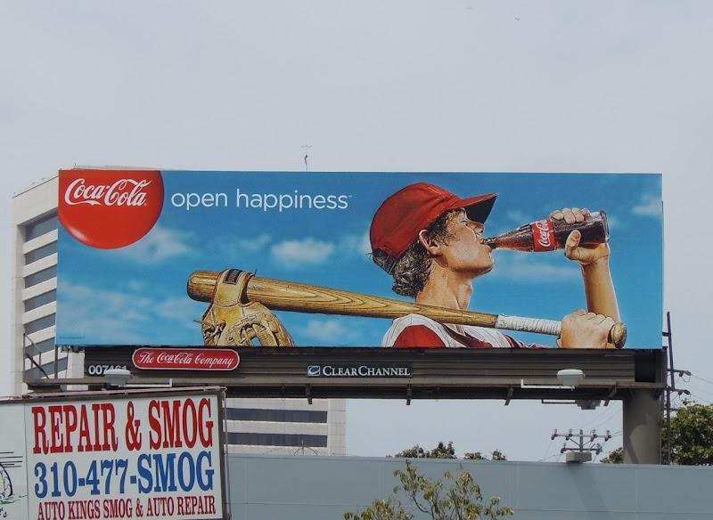 Coca-Cola baseball billboard