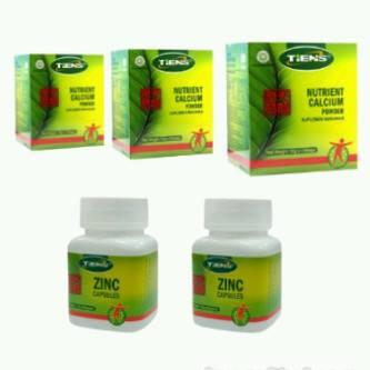 Suplemen Peninggi Badan Tiens Kalsium NHCP, Zinc dan ...