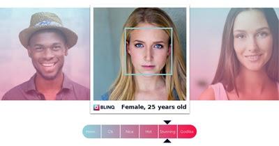 O site Artificial Intelligence mede seu grau de beleza