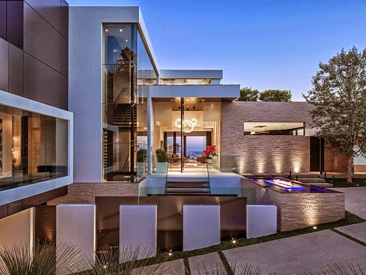 36 million dollars modern home in beverly hills most for Modern house design los angeles