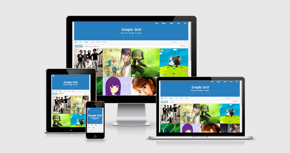 Simple Grid Responsive Blogger Template Valid HTML5 dan CSS3