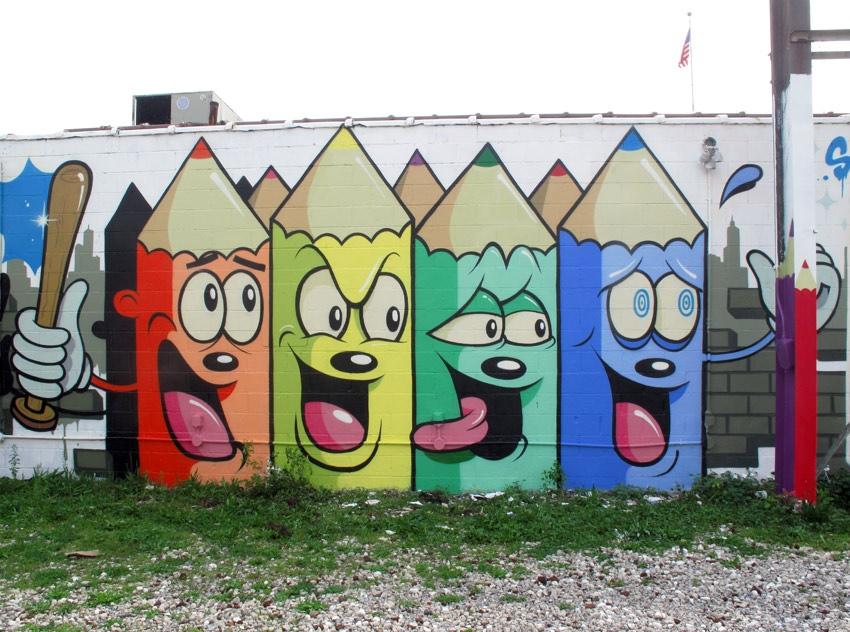 Dabs myla new murals in detroit streetartnews for Australian mural
