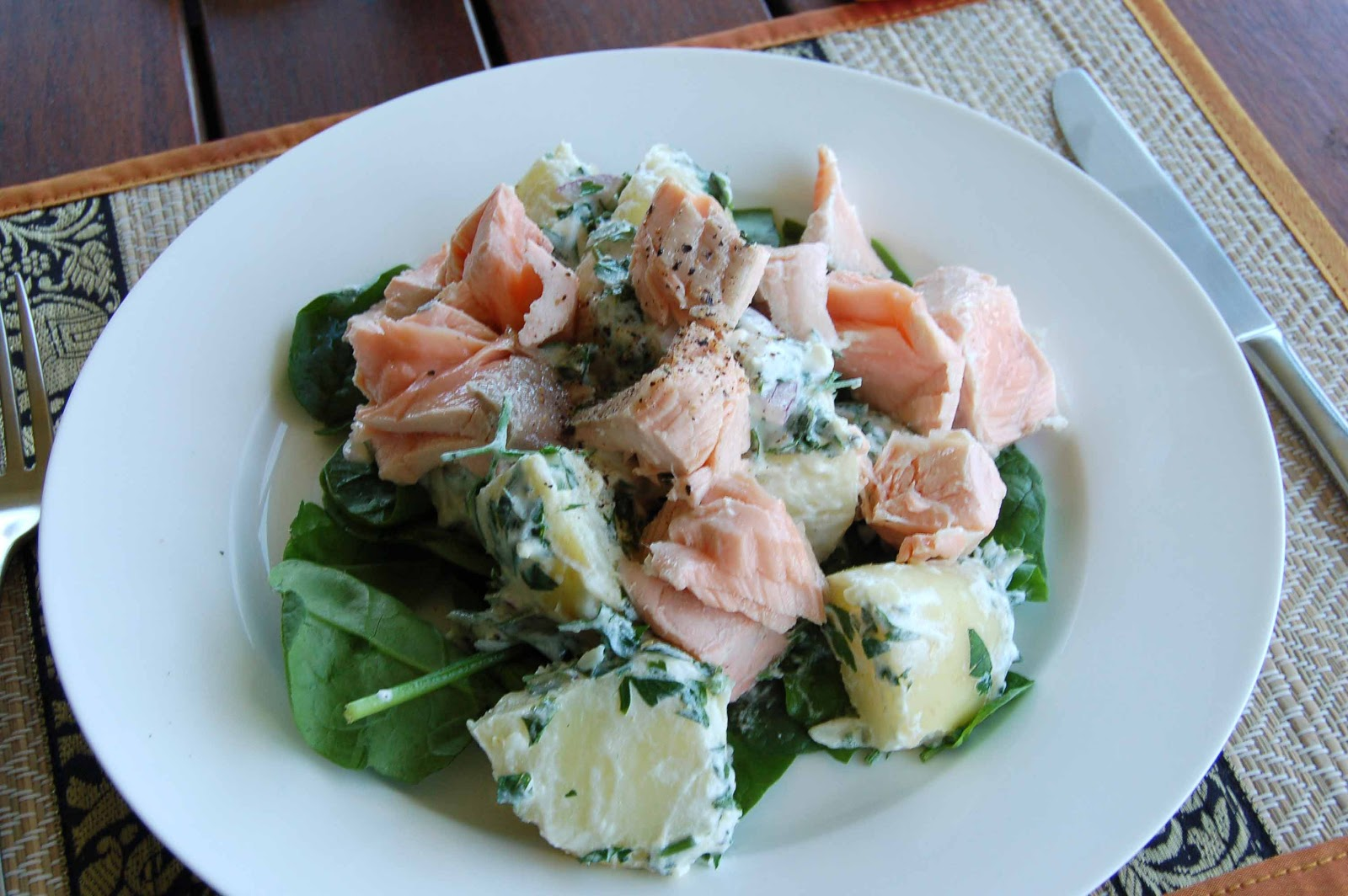 Poached Halibut With Baby Potato Salad Recipes — Dishmaps