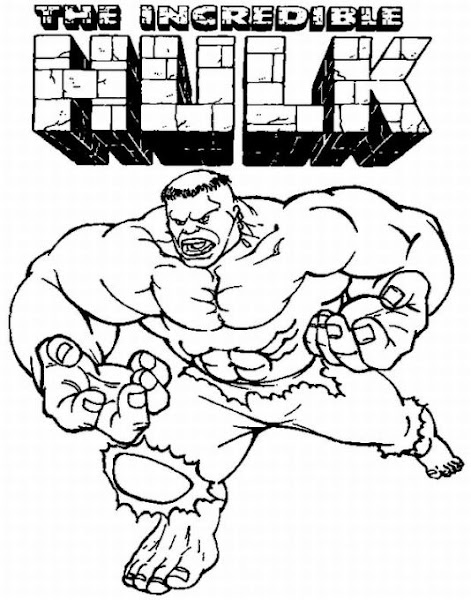 Marvel Incredible Hulk Coloring Pages