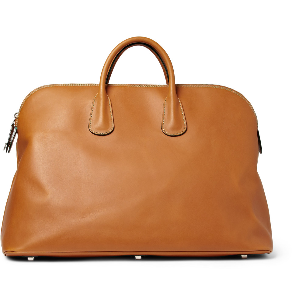 BROWN LEATHER TOTE BAG ON ASK DELUXSHIONIST