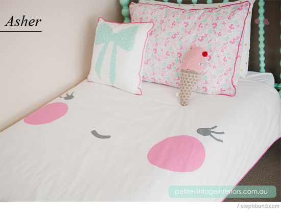 Best Little Louli make beautiful hand printed children us bed linen hand screen printed with water based ink Made in Australia