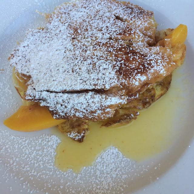 Peach Stuffed French Toast Dixie Supply Bakery Charleston