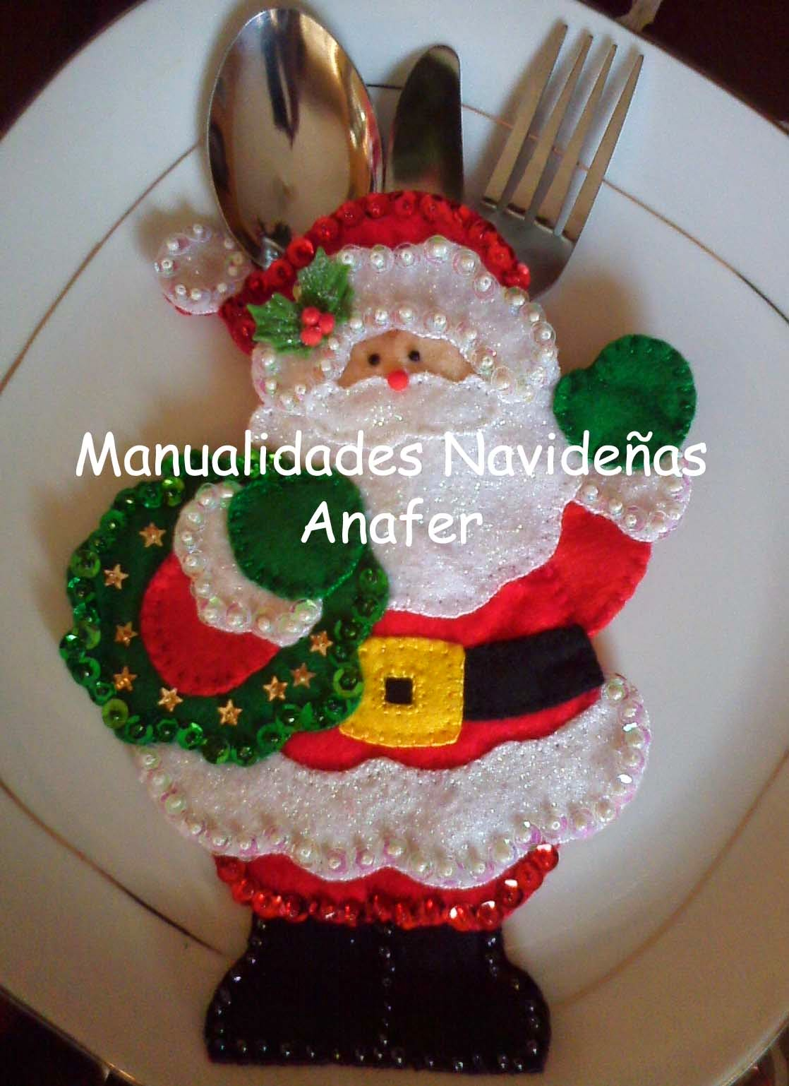 Manualidades navide as anafer portacubiertos navide os - Adornos para fotos gratis ...