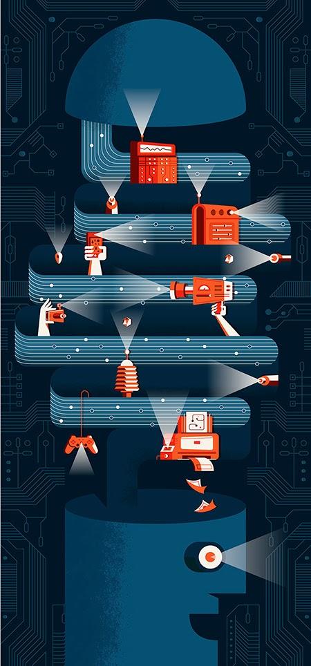 Las ilustraciones vectoriales de Martin Azambuja