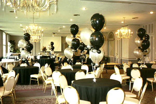 Wedding themes wedding style black and white wedding - Black silver and white party decorations ...