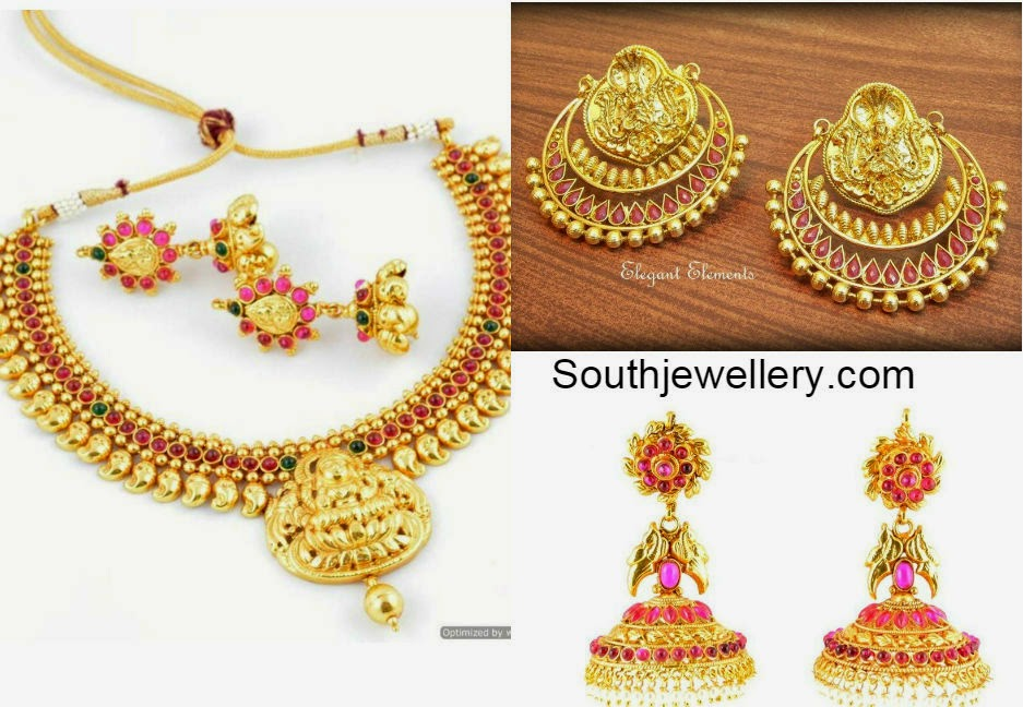 Gold plated temple jewellery collection